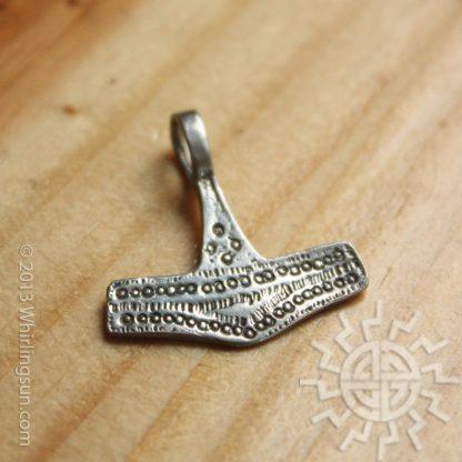 Small Danish Mjolnir Stirling Silver pendant