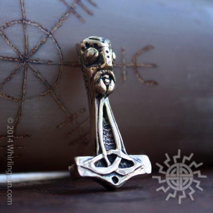gold Thor's hammer pendant