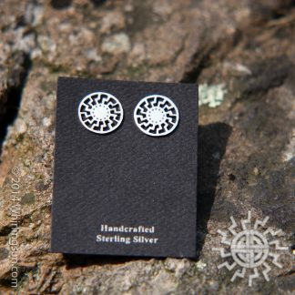 Black Sun Silver earrings