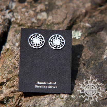 Black Sun Silver earrings