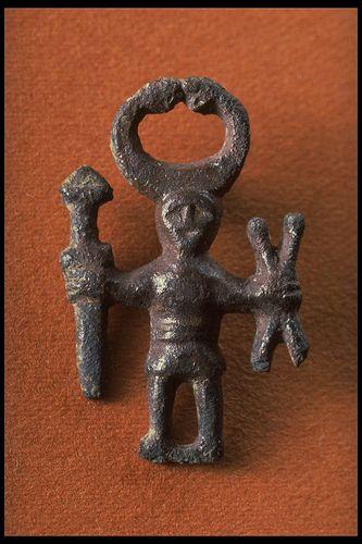 Original Iron age Bronze Odin Shaman figure