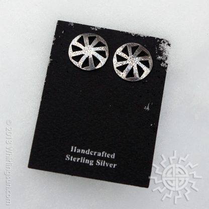 Kolovrat silver earrlings