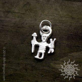 Odin Shaman Horned God Silver pendant