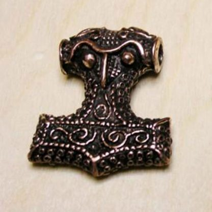 Heavy Thors hammer pendant ancient bronze